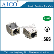 factory rent in china free sample 10/100/1000 BASE-T shielded rj45 jack with emi