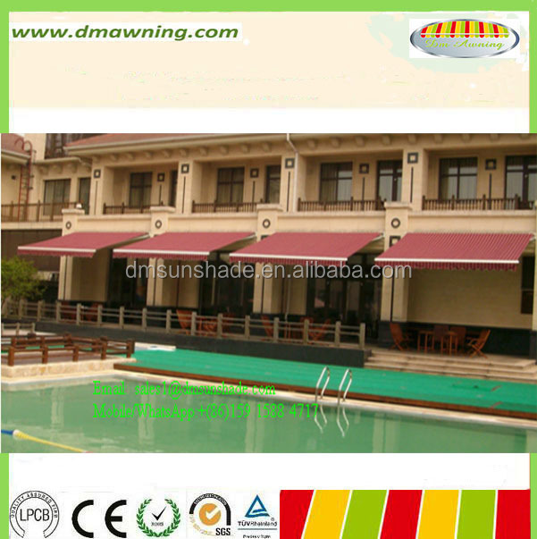 Swimming poor awnings/ waterproof retractable awning