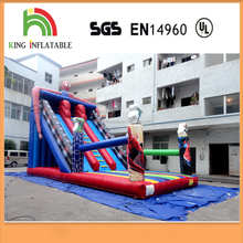 Hero Figure Spider Theme Inflatable Water Slide with Climbing Combo