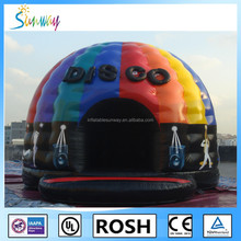 2016 Sunway Hot Selling Crazy Disco Dome Commercial Bouncy Castles Music Jumping Tent