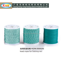 fishing net Lead Line And Floating Line depth saltwater fishing net lead weight