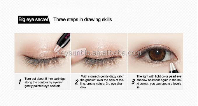 Recommend Shining Color High Quality Eye Shadow Pen for Girls