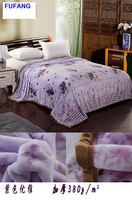 Motorcycle print fabric purple super soft mink blankets home textile factory flannel fleece blankets