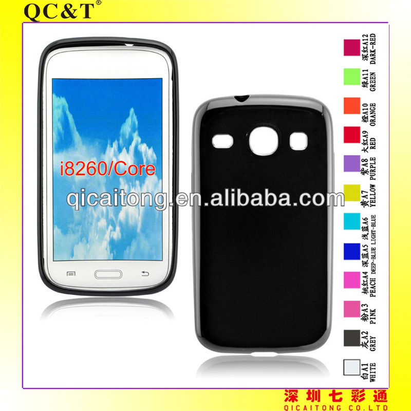 cellphone tpu case (gross outside,mette in side) for Samsung galaxy core I8260/I8262