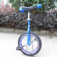 20 inch outdoor bicycle with one wheel Single wheel bicycle Double Alloy rim CE certificate Blue color