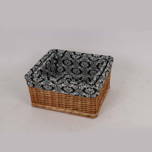 good quality small gift wicker storage basket with linen for fruit eco-friendly