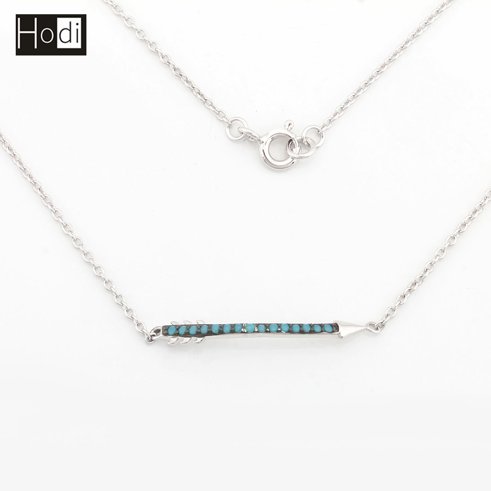 Wholesale Custom Fancy Turquoise Arrow Jewellery Necklace Design 925 Sterling Silver