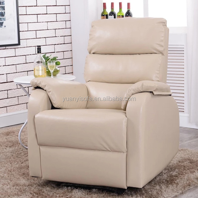 Lowest price good quality leather Rocking recliner chair YRC1089