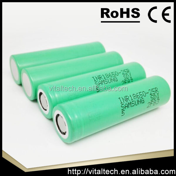 samsung lithium ion battery cell 18650 / samsung inr18650-25r / samsung 18650 25r