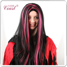 New Arrival party cheap synthetic colorful costume halloween wig manufacture