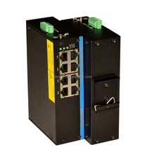 8 port 10/100/1000Base-T(X) industrial ethernet switch with Din-rail installation