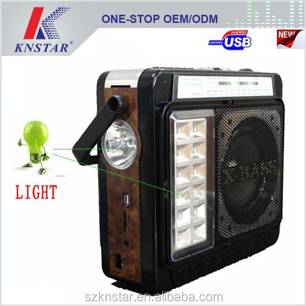 2015 best super powerful light radio speaker with solar energy charge RX-1434T