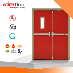 Exit Emergency Metal Door Fire Proof Heat Resistance Thermal Acoustic Steel Door