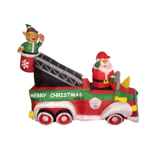 Inflatable Santa With Car Christmas Sleigh Indoor Decoration