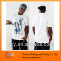 Men Size Street Hip-Hop T-shirts Silk Screen Printing White T-shirts