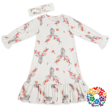 American Girls Without Dress Photos White Long Sleeve Baby Party Design Cotton Dress Girls