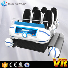 6 Players Egg Seats Touch Screen 9d Vr Cinema with 9d Headset 9d vr family