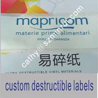 Sale Label Printing Machine Roll Sticker ,vinyl Eggshell Sicker,Frabgile and Brittle Label Stickers