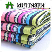 Mulinsen Textile Hot Sales Printed Woven 80s*80s Cotton Voile Candy Stripe Fabric