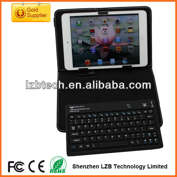 Portalbe Mini wireless keyboard for iPad Mini,wireless Mini Keyboard case for iPad