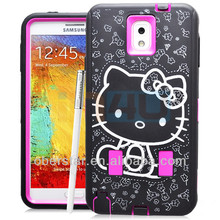 New Cartoon Hello Kitty Hard Case 3 in 1 Silicone Cover For Samsung Galaxy Note 3