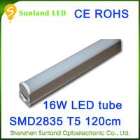 Competitive CE ROHS T5 16w SMD2835 t8 led double tube light cover shenzhen