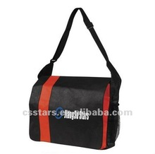 Red business messenger bag with eco non-woven
