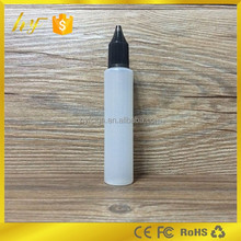 new design pen shape bottle 30ml translucent plastic e liquid bottle with diamond colorful child resistant lid