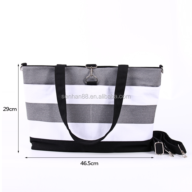 2016 Promotional wholesale canvas baby bags large tote baby adult diaper bag for mummy