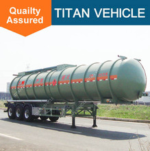waste tank trailer sulfuric acid 60% / caustic soda chemical liquid transport truck