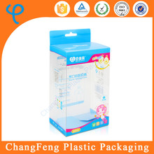 High quality transparent plastic folding box wholesale for feeding bottle packaging