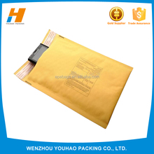 CHINA Wholesale Yellow Poly bubble lined bubble mailer bag poly material with customized printing