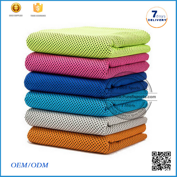 2016 wholesale hot sale light weight microfiber cooling towel microfiber yoga towel