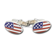 High quality rectangle shape USA cufflink for man/metal material accessories