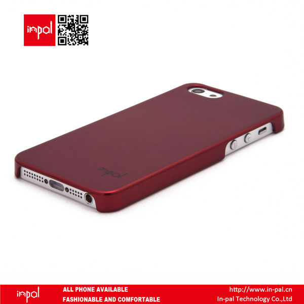 Low profile fashionable customized cover case for iphone 5 accessories in metal texture for wholesale