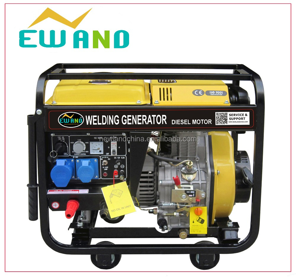 5kw electric open diesel generator with wheels 5kw diesel welding generator