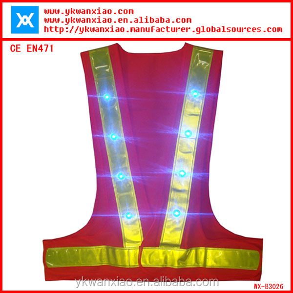 battery operated led lights for clothing CE EN471