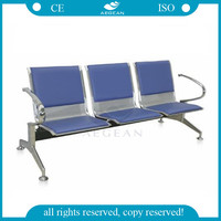 AG-TWC002 Hospital stainless steel base waiting room public chair