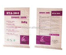 Cheap pearlized BOPP coated PP woven fabric bag for tile adhesive