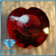 Freeform Irregular Shape Garnet color CZ Stone for Noble Jewelry
