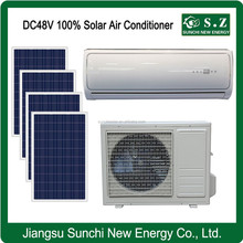 Lowest price 12000BTU 18000BTU DC48V solar power only heating off grid split air conditioner