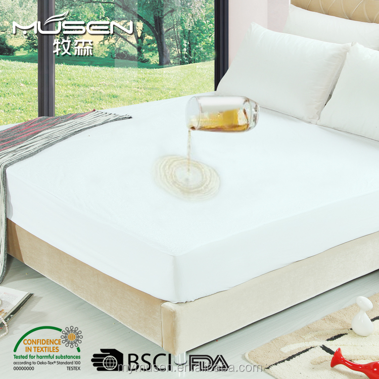 Hot Sell Waterproof Terry Mattress Cover