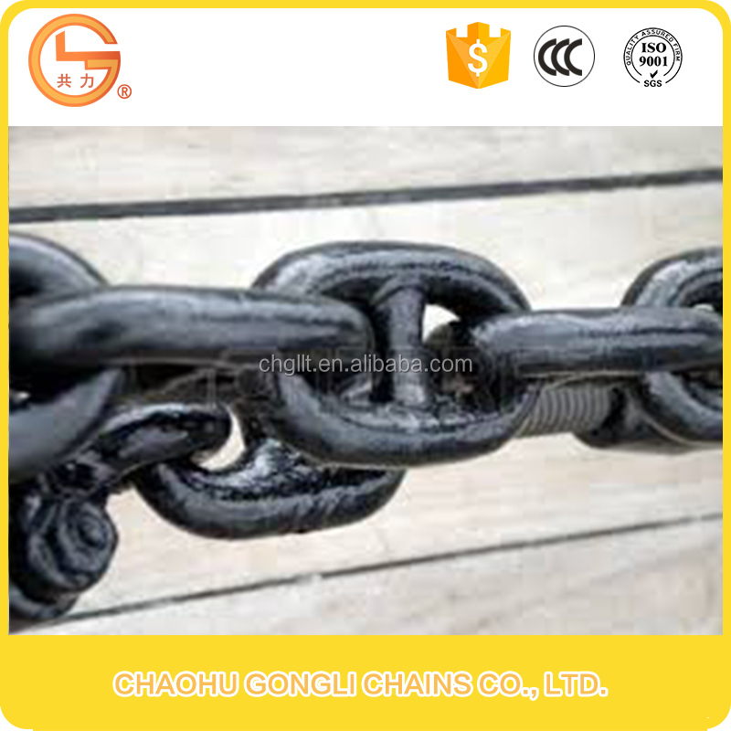 Standard galvanized iron stud link ship anchor chain for marine
