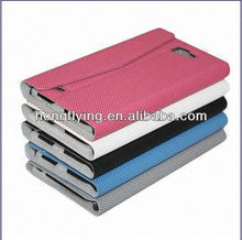 Full Surround Leather Flip Cover Case for Samsung Galaxy Note 2/N7100, with Card Slots and Stand