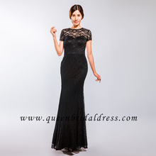 Simple short mother of bride lace evening dresses mermaid prom dresses