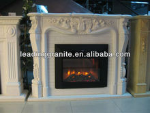 electric fireplace marble top