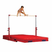 Popular adjustable height kids gymnastic horizontal bar for sale