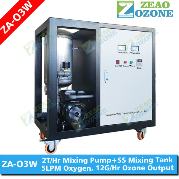 Ozone washing ozonated laundry water machine with microbubble generator pump