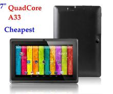 Promotional ! Cheapest wifi tablet 7 inch hot q88 tablet pc a33 manufacture