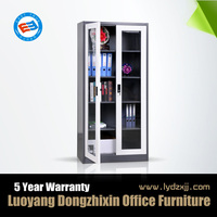 Glass door medical storage cabinet steel office storage cabinet